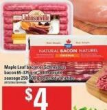 Maple Leaf Bacon Or Schneiders Bacon - 65-375 G Or Johnsonville Sausage - 250-500 G
