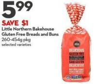 Little Northern Bakehouse  Gluten Free Breads and Buns  260-454g Pkg