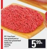 PC Free From Lean Ground Pork Or Extra Lean Ground Beef
