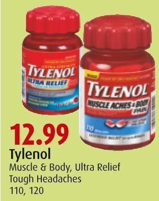 Tylenol Muscle & Body - Ultra Relief  Tough Headaches 110 - 120