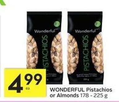 Wonderful Pistachios or Almonds