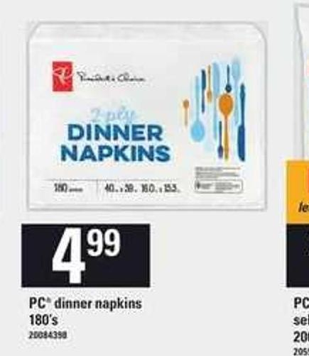 PC Dinner Napkins - 180's