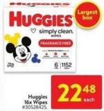 Huggies 16x Wipes