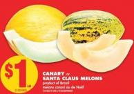 Canary or Santa Claus Melons