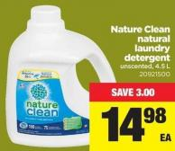 Nature Clean Natural Laundry Detergent - 4.5 L