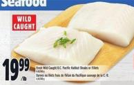 Fresh Wild Caught B.c. Pacific Halibut Steaks Or Fillets