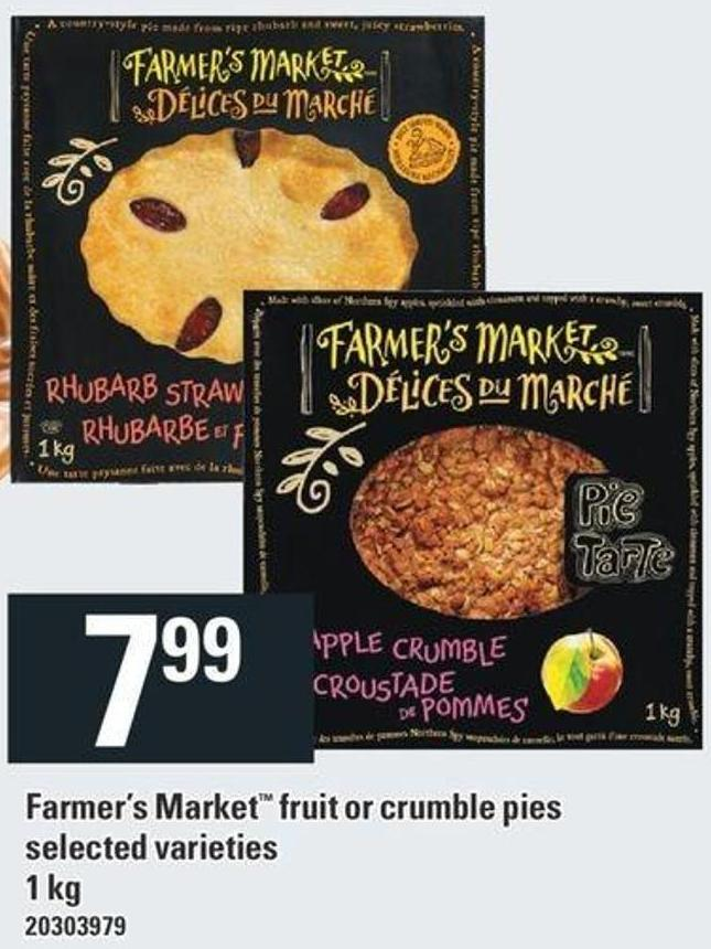 Farmer's Market Fruit Or Crumble Pies