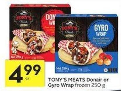 Tony's Meats Donair or Gyro Wrap