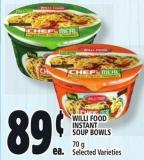 Willi Food Instant Soup Bowls 70 g