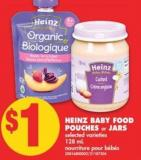 Heinz Baby Food Pouches or Jars - 128 mL