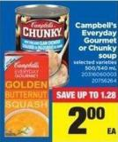 Campbell's Everyday Gourmet Or Chunky Soup - 500/540 mL