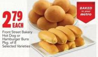 Front Street Bakery Hot Dog Or Hamburger Buns Pkg Of 8