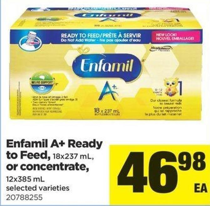 Enfamil A+ Ready To Feed - 18x237 Ml Or Concentrate - 12x385 Ml