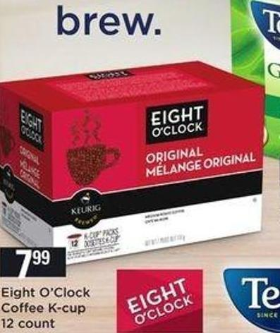 Eight O'clock Coffee K-cup .12 Count