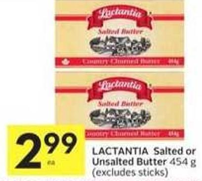 Lactantia Salted or Unsalted Butter