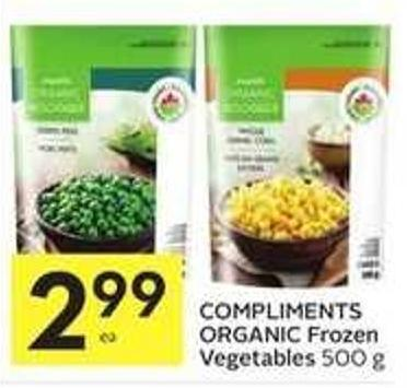 Compliments Organic Frozen Vegetables