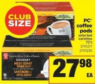 PC Coffee PODS - 72's