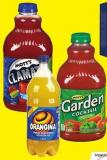 Mott's Clamato or Garden Cocktail 1.89 L Orangina Sparkling Orange 1.75 L