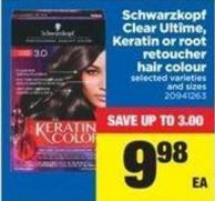 Schwarzkopf Clear Ultîme - Keratin Or Root Retoucher Hair Colour