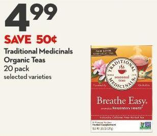 Traditional Medicinals  Organic Teas  20 Pack