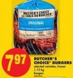 Butcher's Choice Burgers - 1.13 Kg