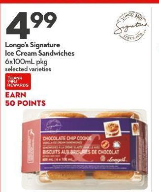 Longo's Signature Ice Cream Sandwiches