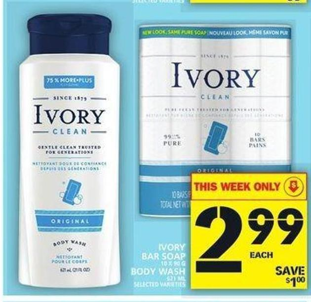 Ivory Bar Soap Or Body Wash