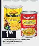 Campbell's Ready-to-eat Or Habitant Soup - 540-796 mL