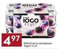 Iögo Fruit On The Bottom Yogurt 12 Pk
