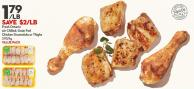 Fresh Ontario Air Chilled - Grain Fed Chicken Drumsticks or Thighs 3.95/kg