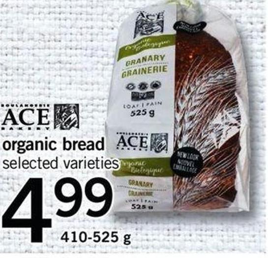 Ace Organic Bread - 410-525 G