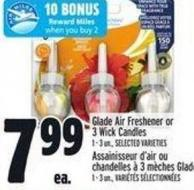 Glade Air Freshener Or 3 Wick Candles 1 - 3 Un. -