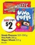 Simple Pleasures 325-350 g Viva Puffs 300 g Wagon Wheels 315 g