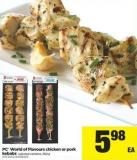PC World Of Flavours Chicken Or Pork Kebabs - 250 g