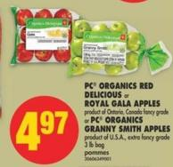 PC Organics Red Delicious or Royal Gala Apples or PC Organics Granny Smith Apples - 3 Lb Bag