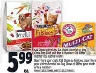 Cat Chow Or Friskies Cat Food - Beneful Or Dog Chow Dog Food And Arm & Hammer Cat Litter