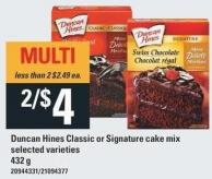 Duncan Hines Classic Or Signature Cake Mix