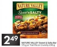 Nature Valley Sweet & Salty Bar 175 g or Trail Mix or Crunchy 230 g