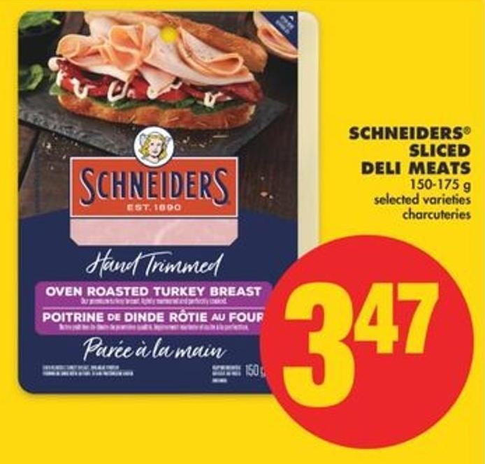 Schneiders Sliced Deli Meats - 150-175 G