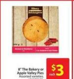 8in The Bakery or Apple Valley Pies