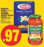 Barilla Pasta - 454 g or Catelli Garden Select Pasta Sauce - 640 mL