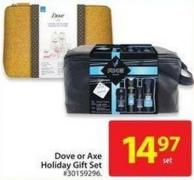Dove or Axe Holiday Gift Set