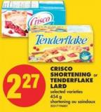 Crisco Shortening Or Tenderflake Lard - 454 G