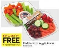Made In-store Veggie Snacks Selected