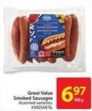 Great Value Smoked Sausages