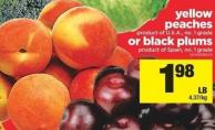 Yellow Peaches Or Black Plums
