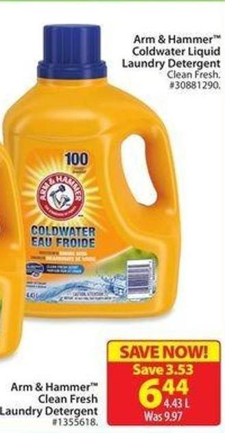 Arm & Hammer Coldwater Liquid Laundry Detergent
