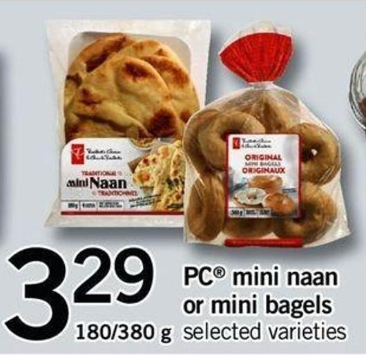 PC Mini Naan Or Mini Bagels - 180/380 G