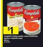 Campbell's Chicken Noodle - Cream Of Mushroom - Tomato Or Vegetable Soups - 284 mL