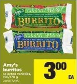 Amy's Burritos - 156/170 G